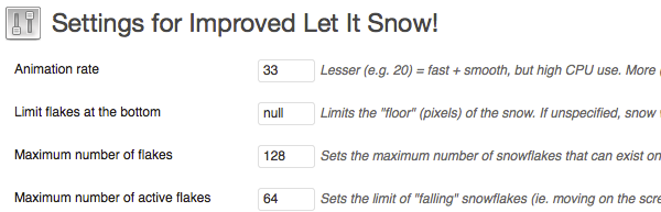 Improved Let It Snow