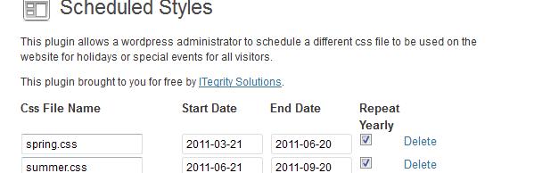 WP Scheduled Styles
