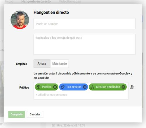 configuracion hangout