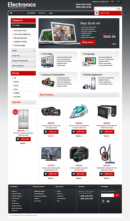 Electronics Store Responsive Magento Theme