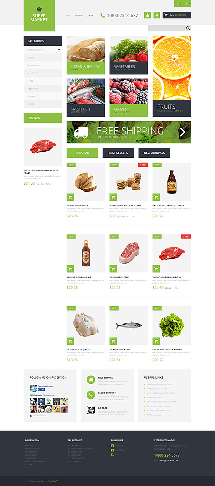 Supermarket Template PrestaShop Theme
