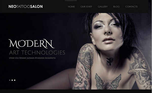 responsive tattoo salon